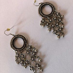 Jewelry - Boho Pewter Look Circle Earrings NWOT 💋3 for $25!